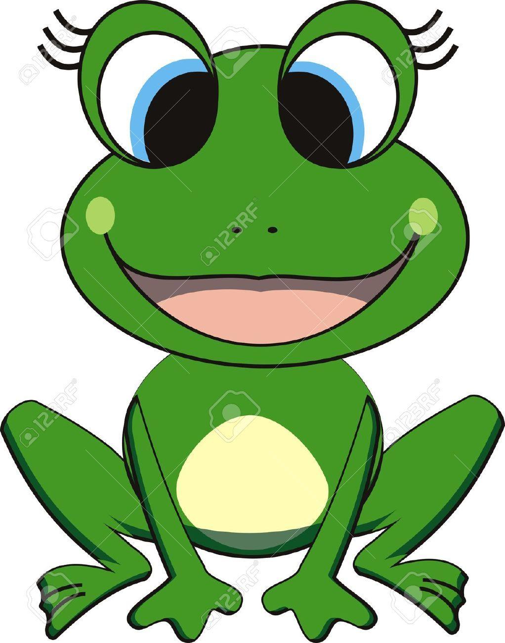 Vector Illustration Of Happy Frog Cliparts, Vector, Và ...