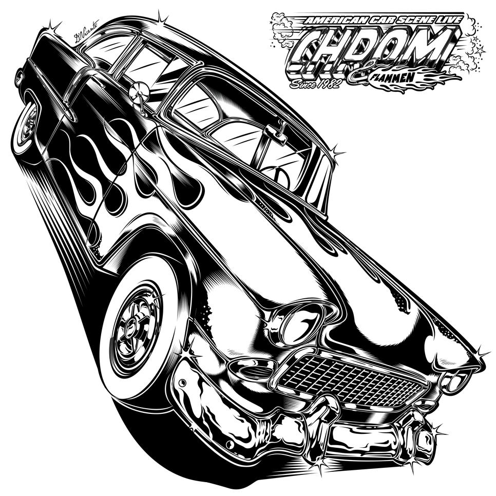 Chevy for chrom flammen design 2016