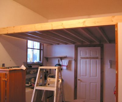 Mezzanine Bed Platform The Loft With The Plywood Kait S