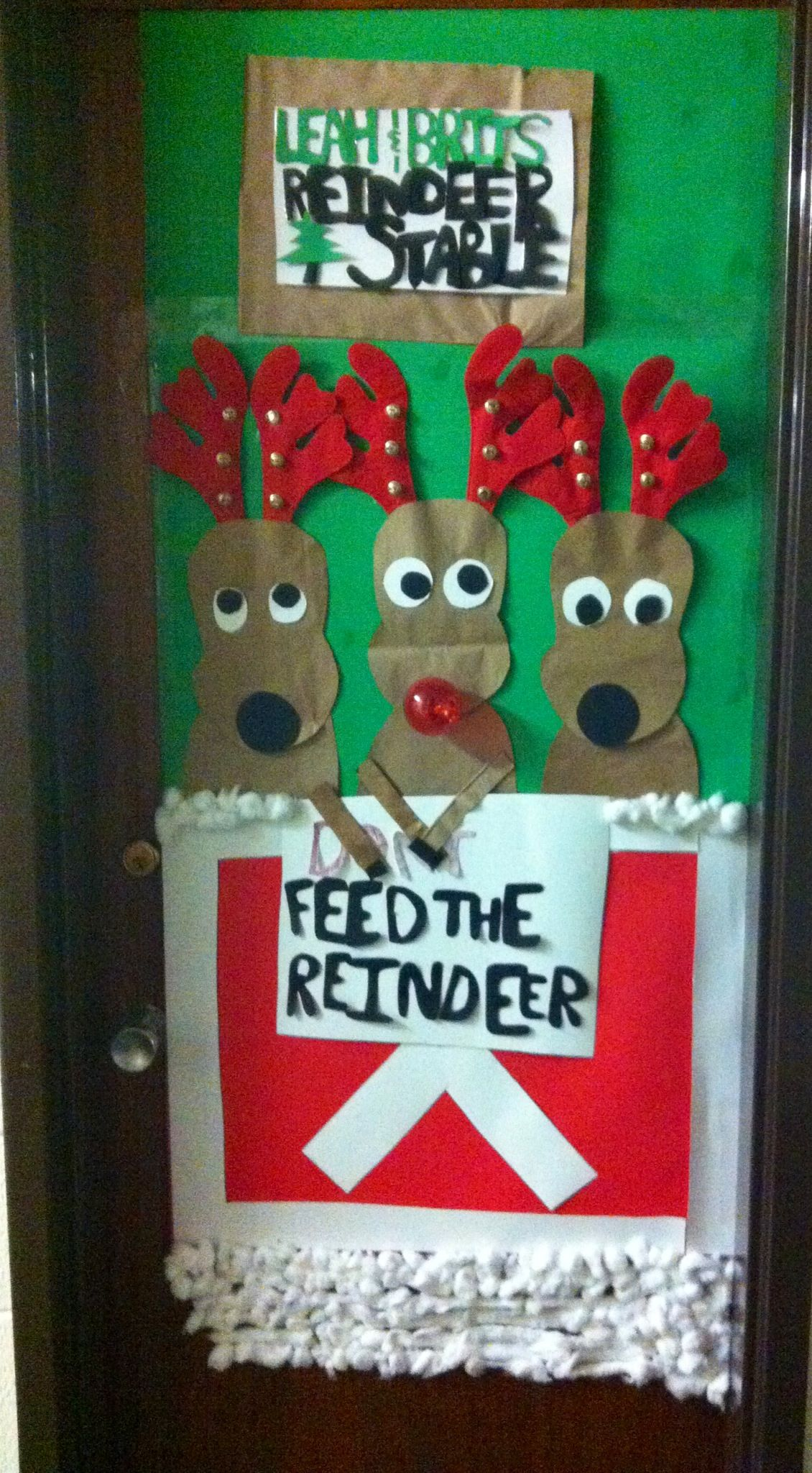 Leah And Brittany S Reindeer Stable My Door Creativity
