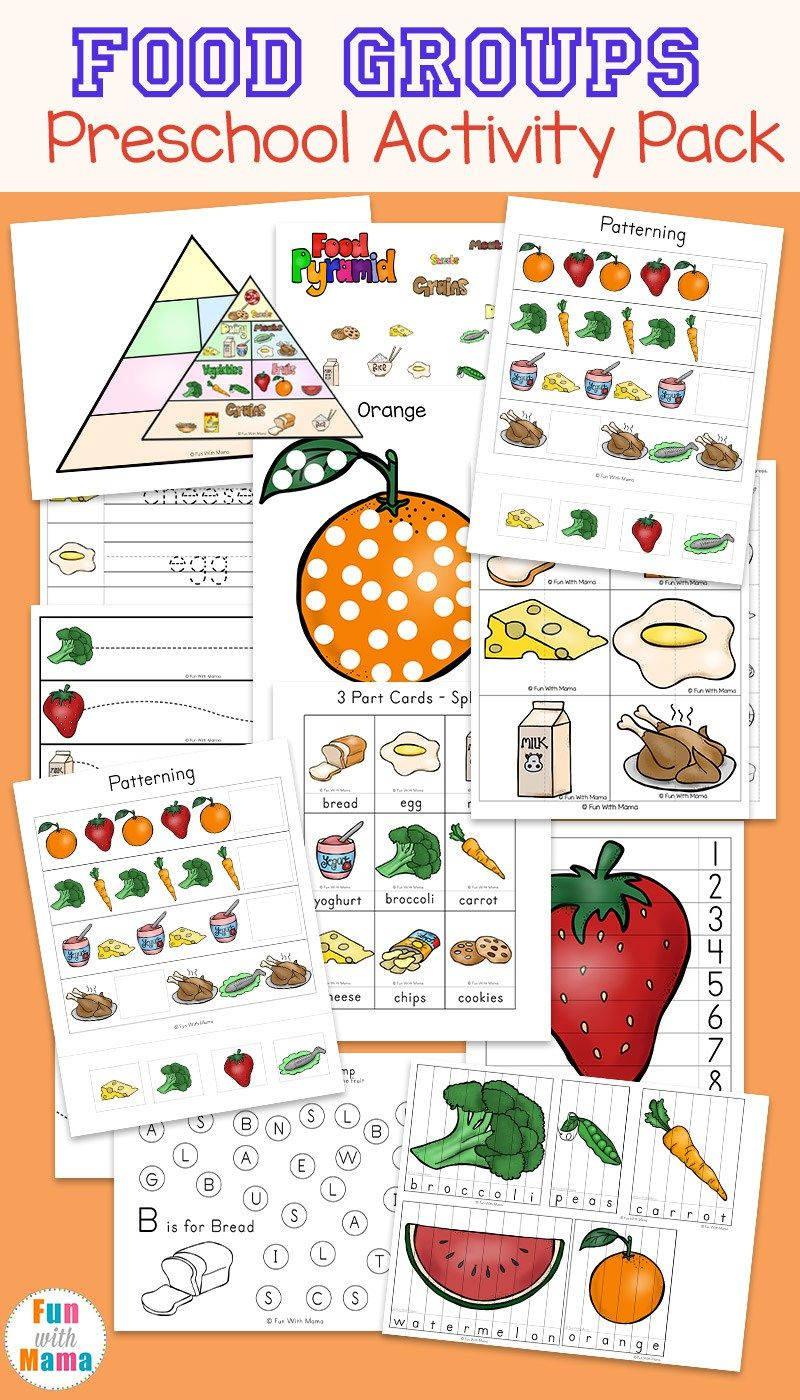 Food Groups Preschool Ctivity P Ck Homeschool W Ksheets Food