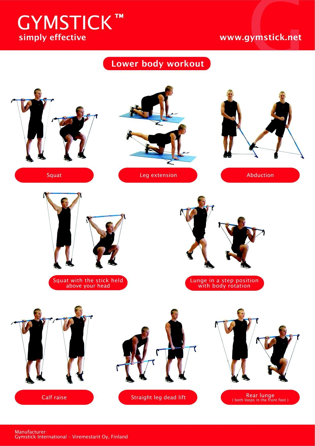 Gymstick Lower Body Alt Kas Grubu Exercise Pinterest