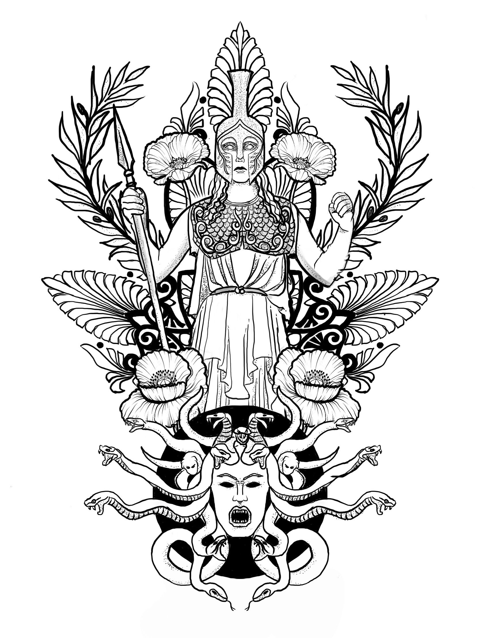 Tattoo design | Athena tattoo reference for Shelby ...