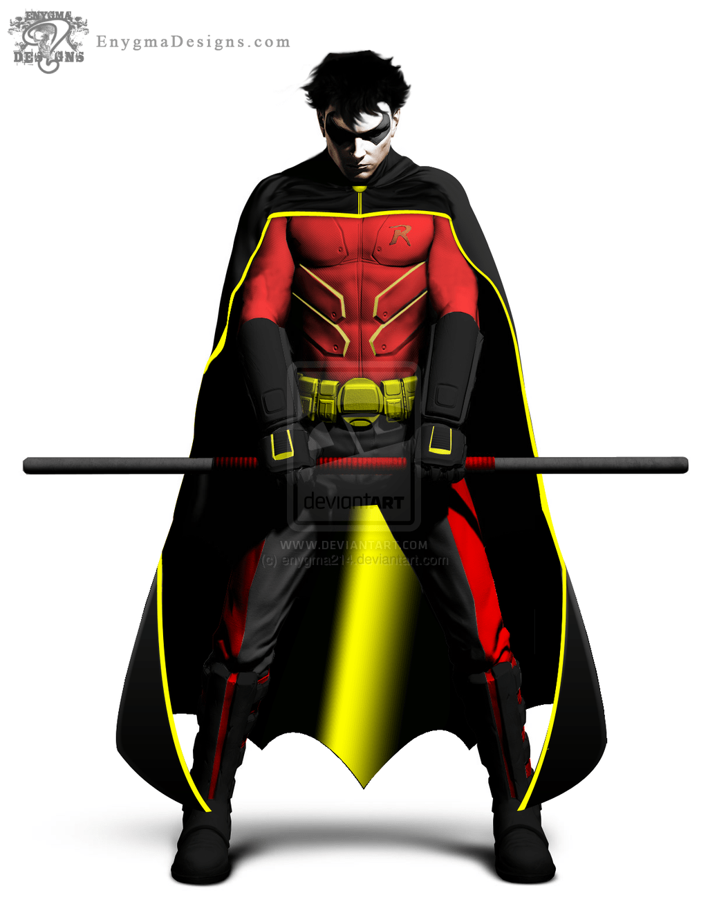 Robin - Tim Drake (Batman Arkham City) by enygma214.deviantart.com on @DeviantArt | hero designs ...