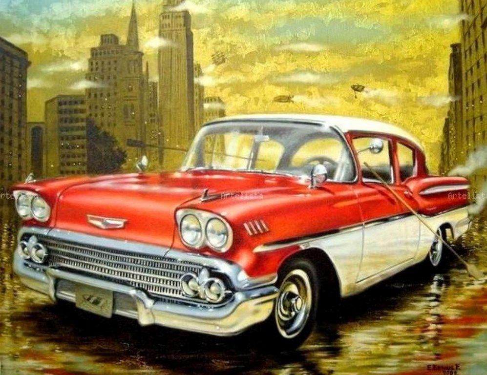 Cuadros De Carros Pinturas Al Oleo Autos Pinterest