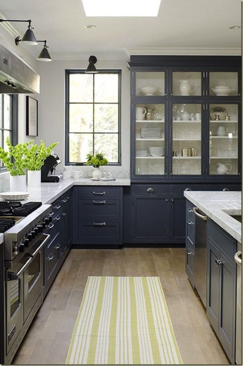 Best Kitchen Gallery: Color Of The Week Behr Black Sapphire A Not Quite Navy Not Quite of Behr Gray Paint For Kitchen Cabinets on rachelxblog.com