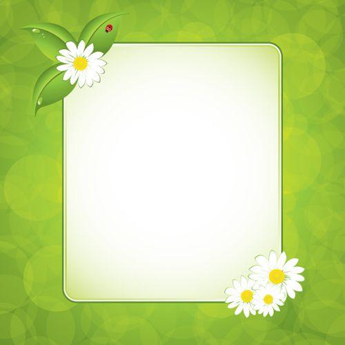Green floral frame vector set 01 | Frame Me | Pinterest ...