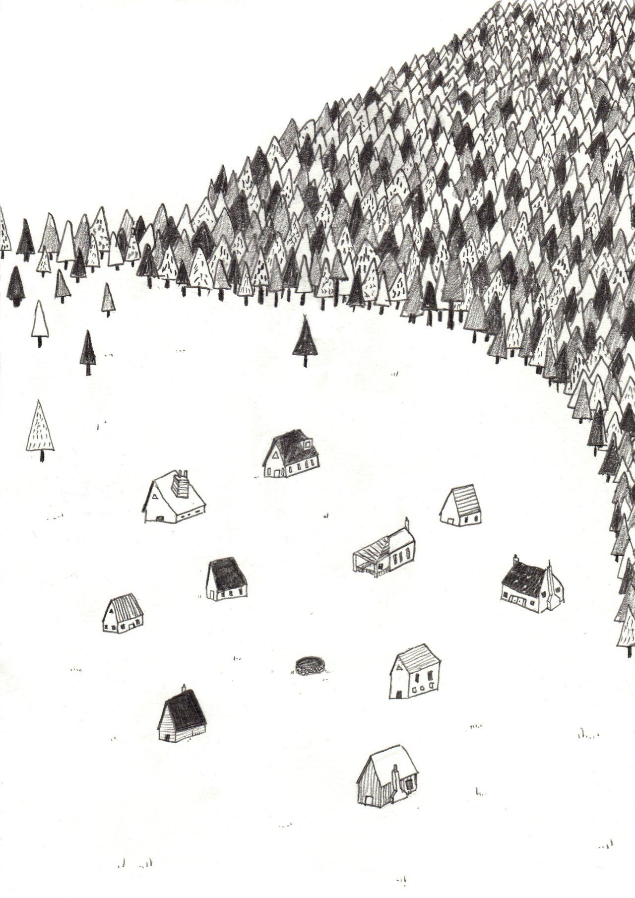 eatsleepdraw: Village My Tumblr | Art: illustration ...