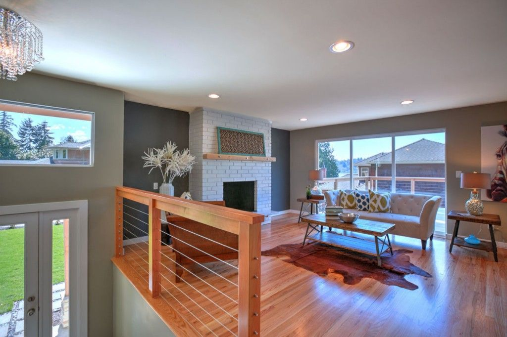 Perfect Modern Eclectic Living Room Split Entry Remodel