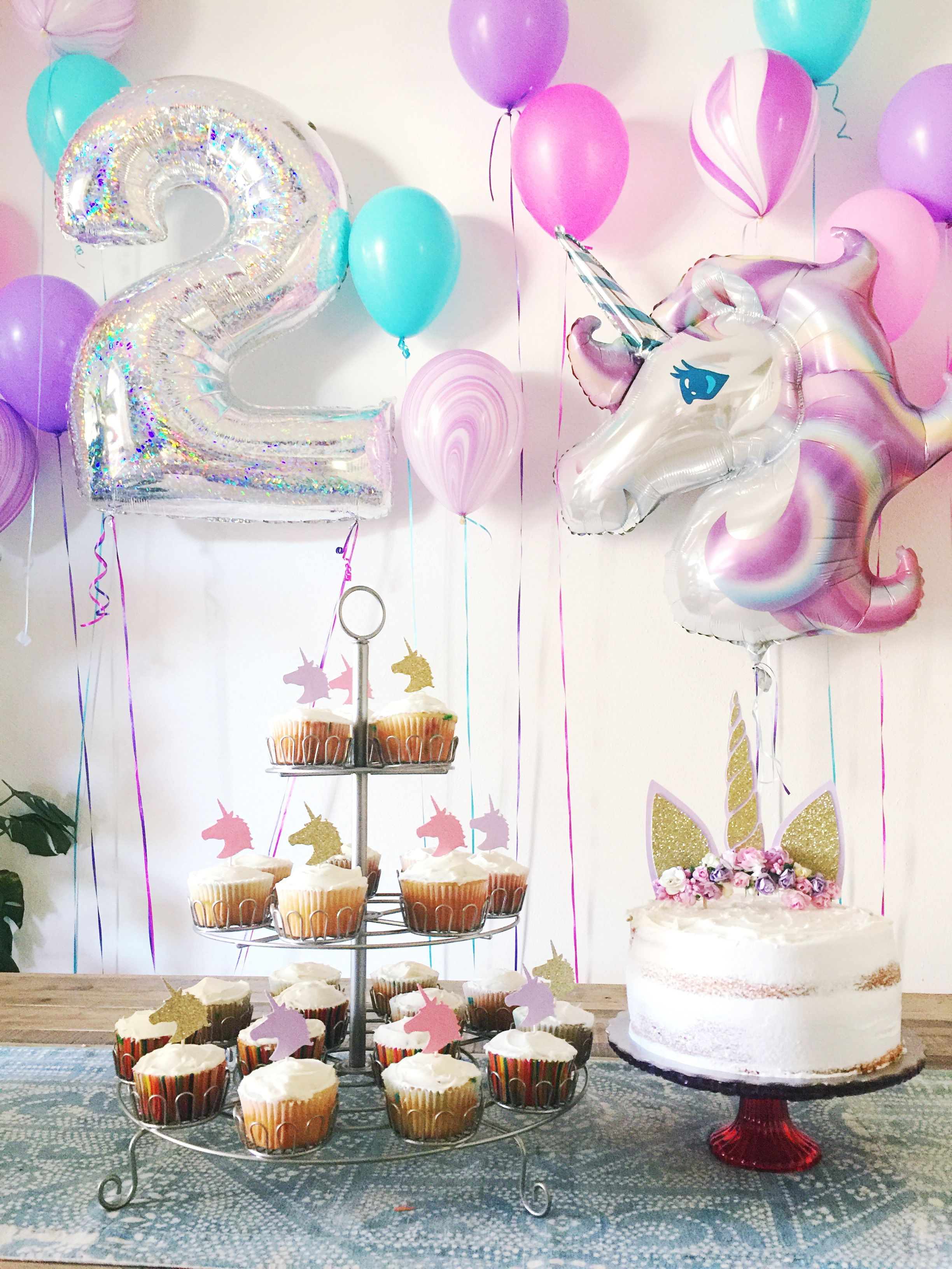 2 Year Old Unicorn Birthday Party Party Pinterest