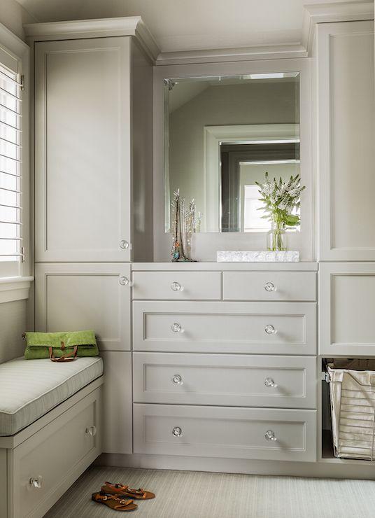 Gray Closet Cabinets By Anita Clark Design Walk In