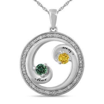 ZALES   Zales Couple s 3 0mm Birthstone and 1 20 CT  T W  Diamond     Shop our amazing selection of gorgeous necklaces  such as diamond necklaces  and fashion necklaces  at Kay Jewelers