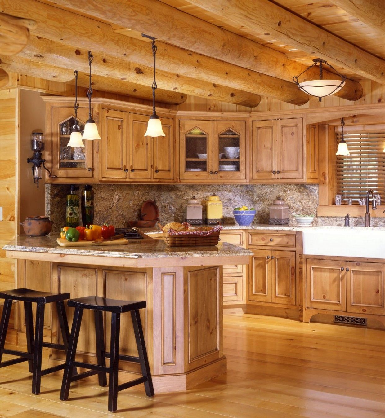 Best Kitchen Gallery: Huge Log Cabin Kitchens Kitchen Cabi S Home Design Yellowstone of Log Cabin Kitchen Cabinets on cal-ite.com