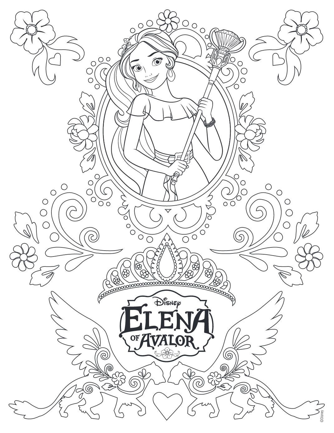 Elena Of Avalor Coloring Pages 65 1071×1386 Coloring