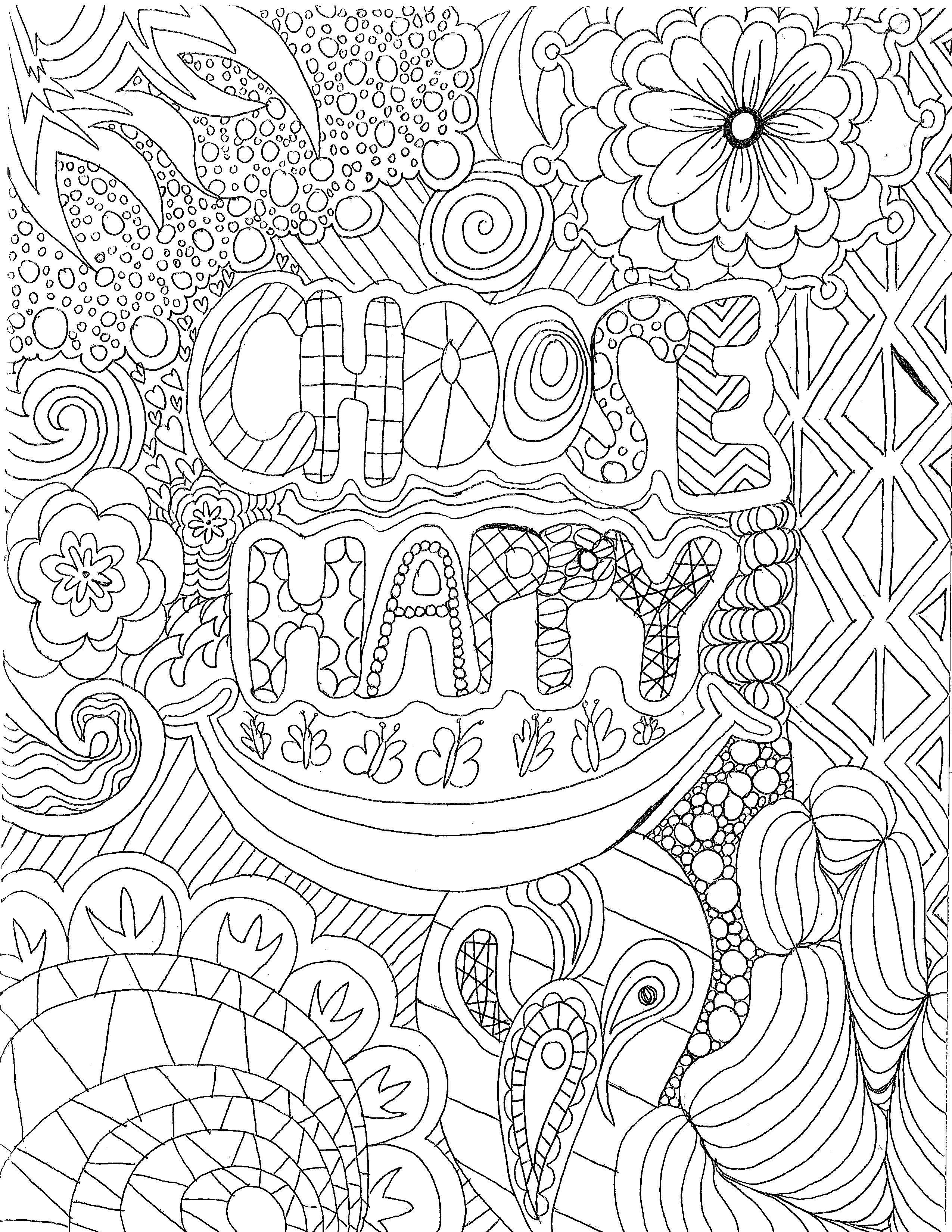 Adult Coloring Page By Luther Student Erin Runquist Color Club