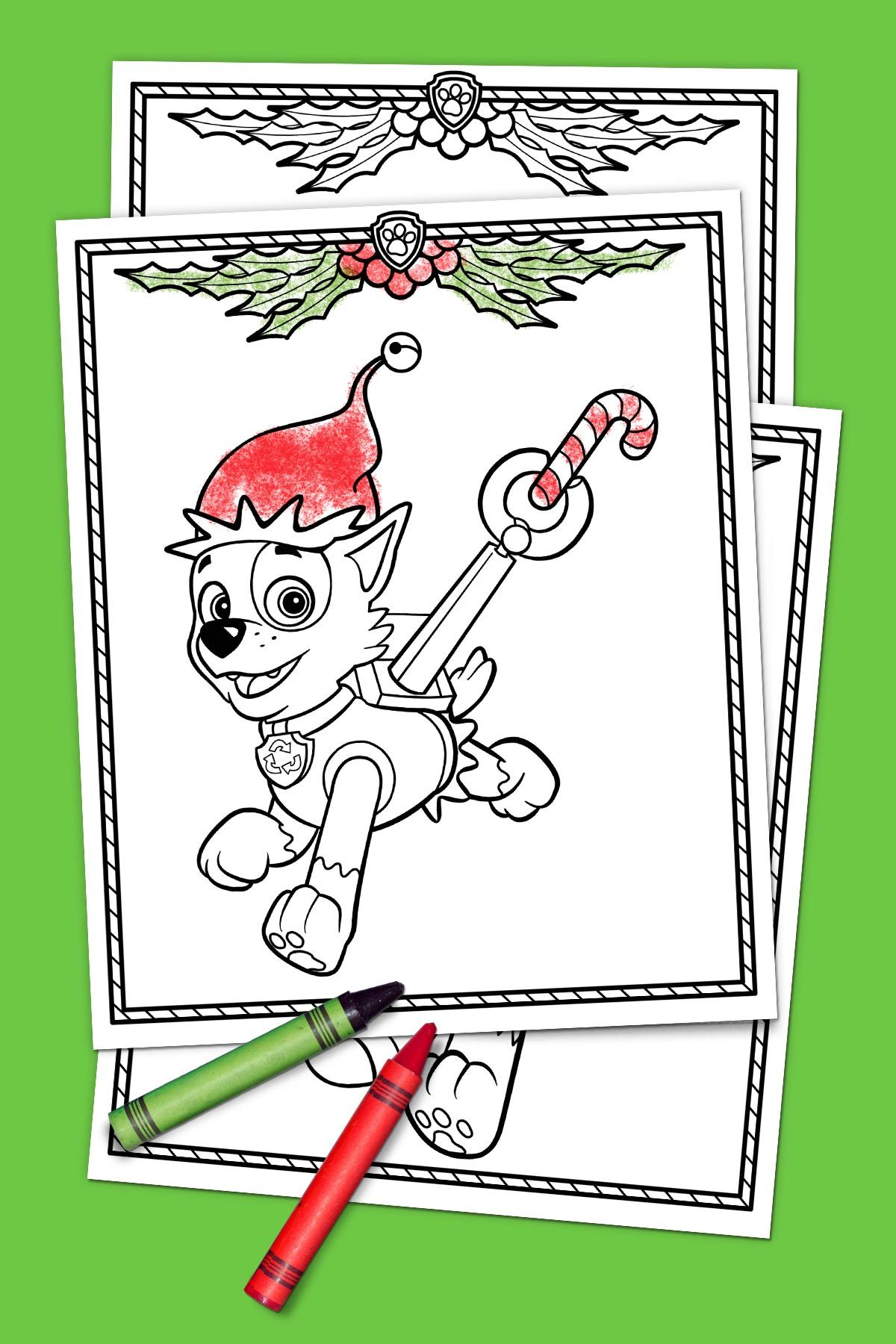 Paw Patrol Holiday Coloring Pack Paw Patrol Coloring And Holiday