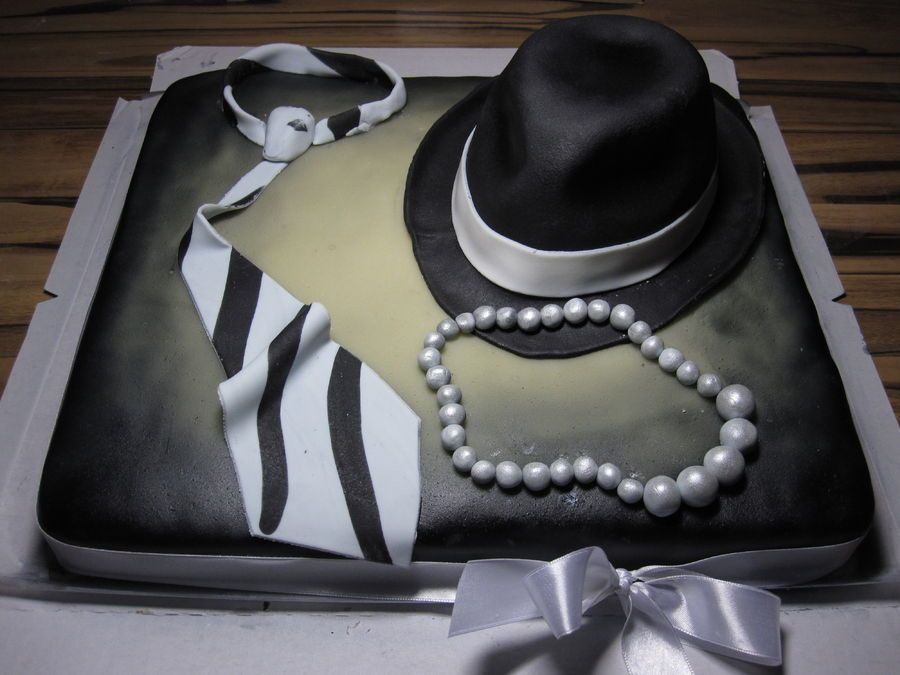 Tie Pearls And Hat Cake Cake Decorating Ideas