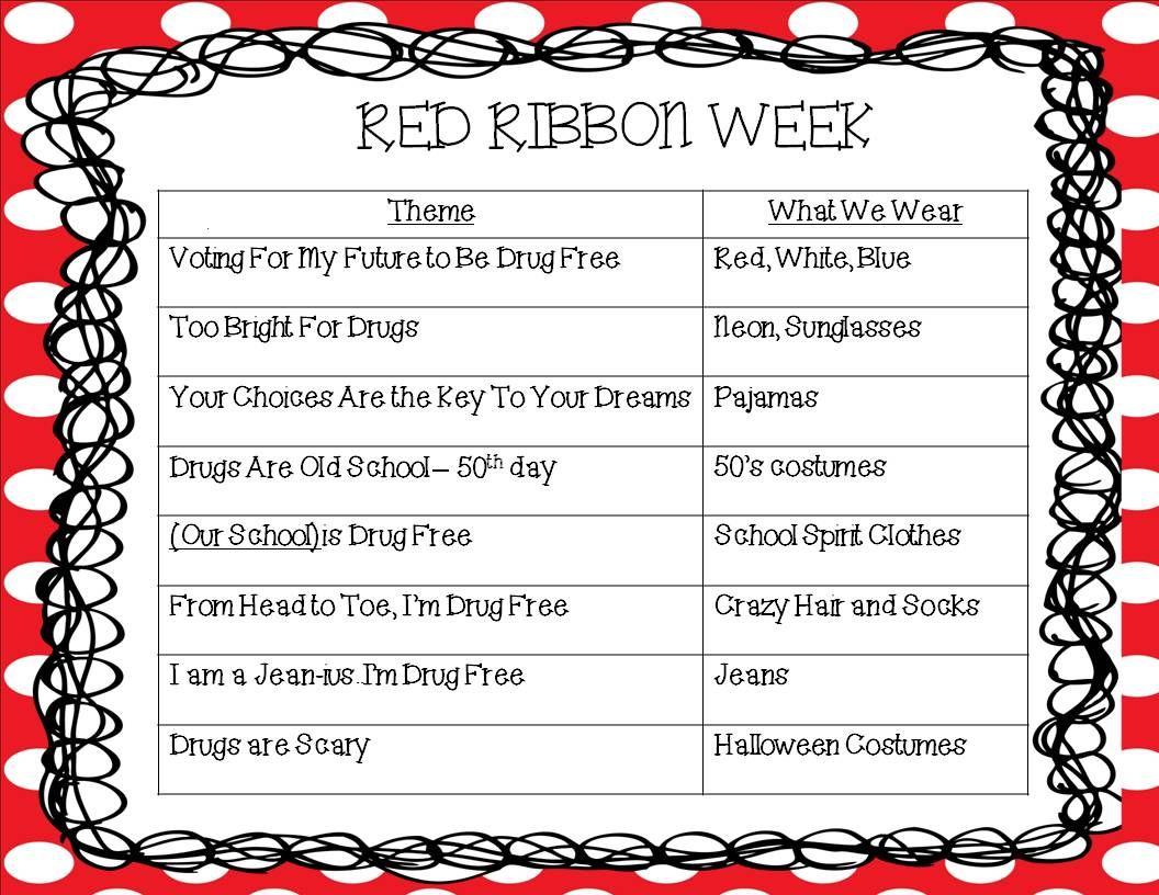K Derg Rten K Ner Red Ribb Week Student Council P Terest