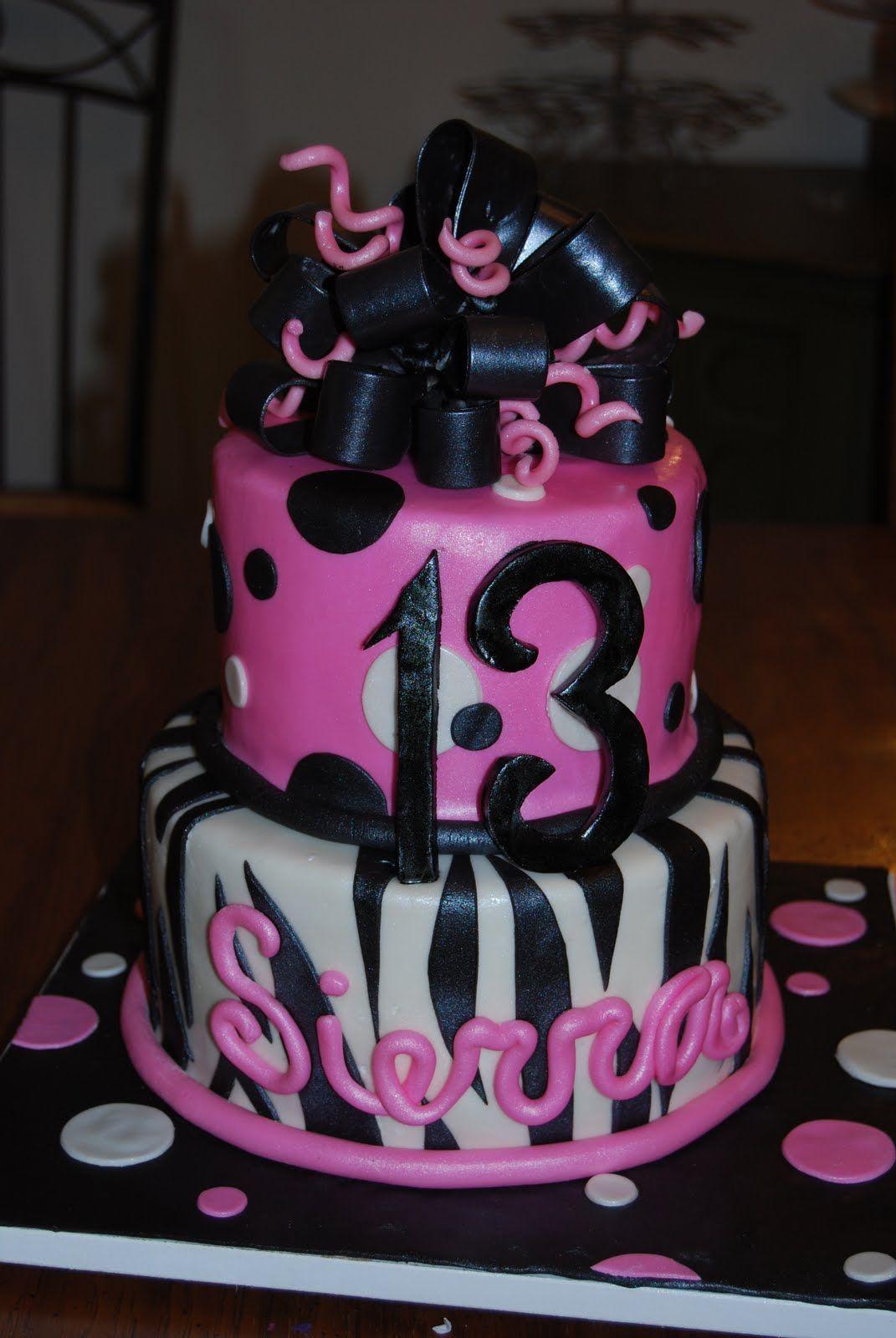 Birthday Ideas On Pinterest 13th Birthday Cakes Cake