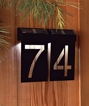 Eye Catching House Numbers Laser Cutting