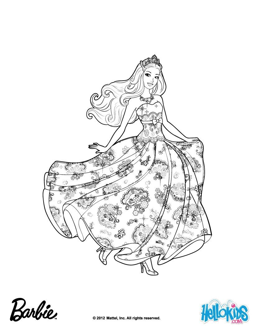 Barbie Is Princess Tori Barbie Coloring Page More Barbie The