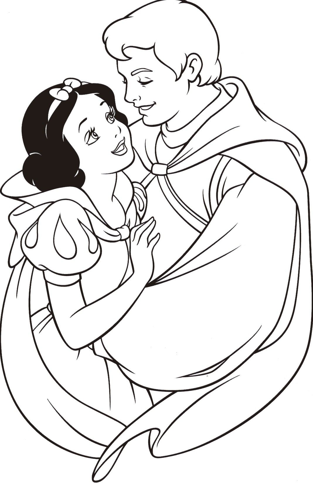 Snow White And Prince Charming Coloring Pages Coloring Page