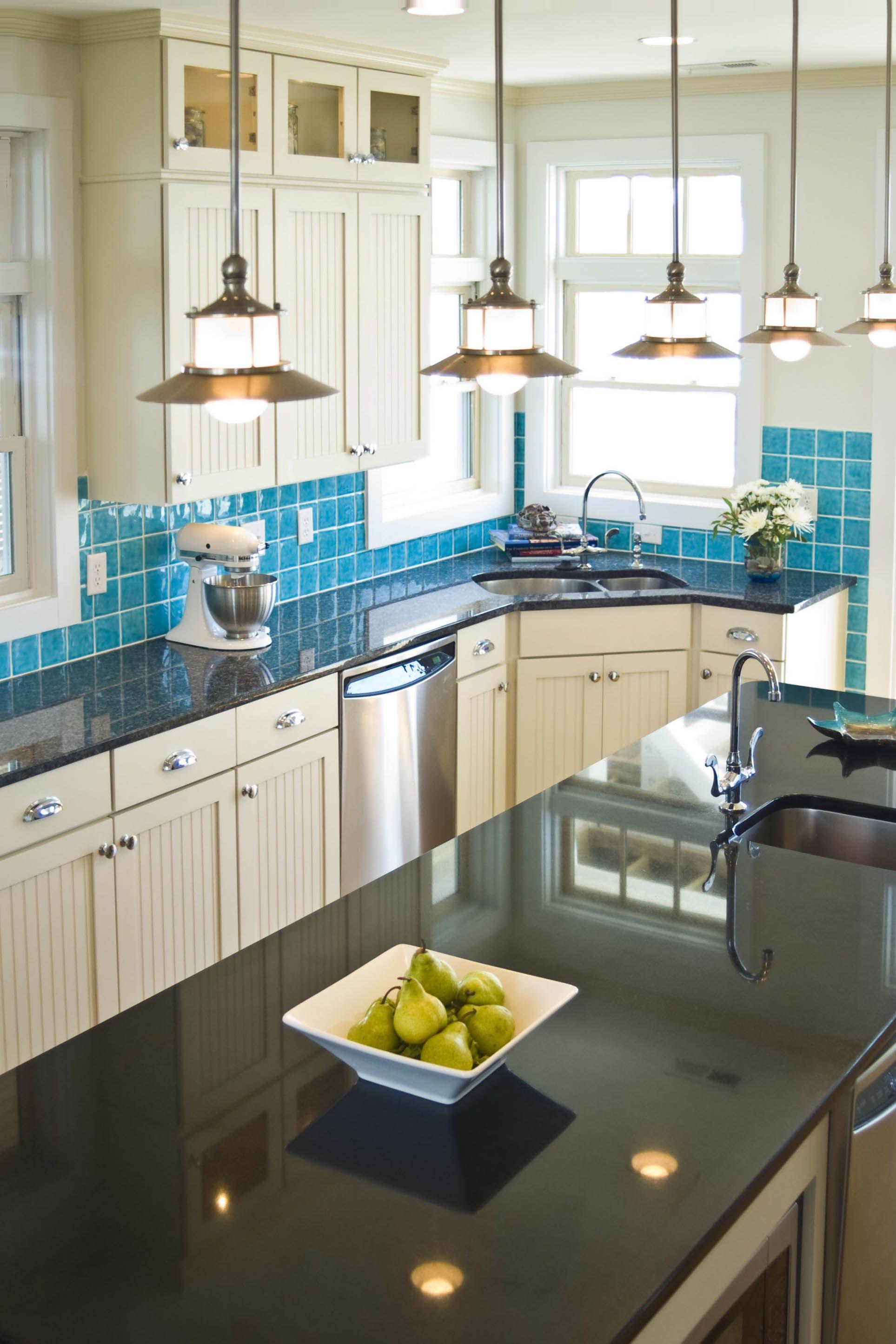 Best Kitchen Gallery: Love The Blue Splash Tiles Warner Beach House Kitchen Beach of Beach House Number Tiles on rachelxblog.com
