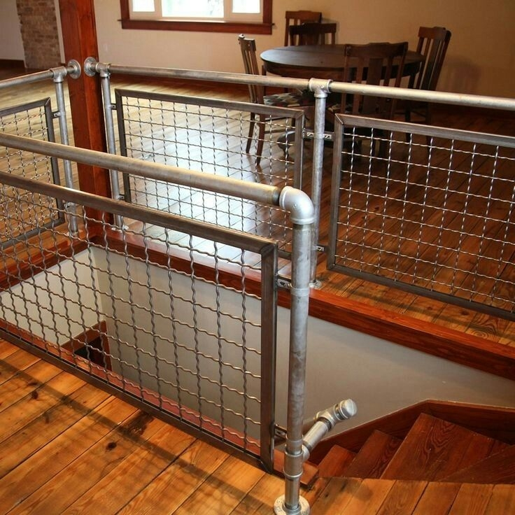 Cast Iron Pipe Cutting Tool Industrial Pipe Stair Railing | Pacific Stairs And Railings | Architecture | Wire Mesh | Cad | Casey Brown | Modern Staircase