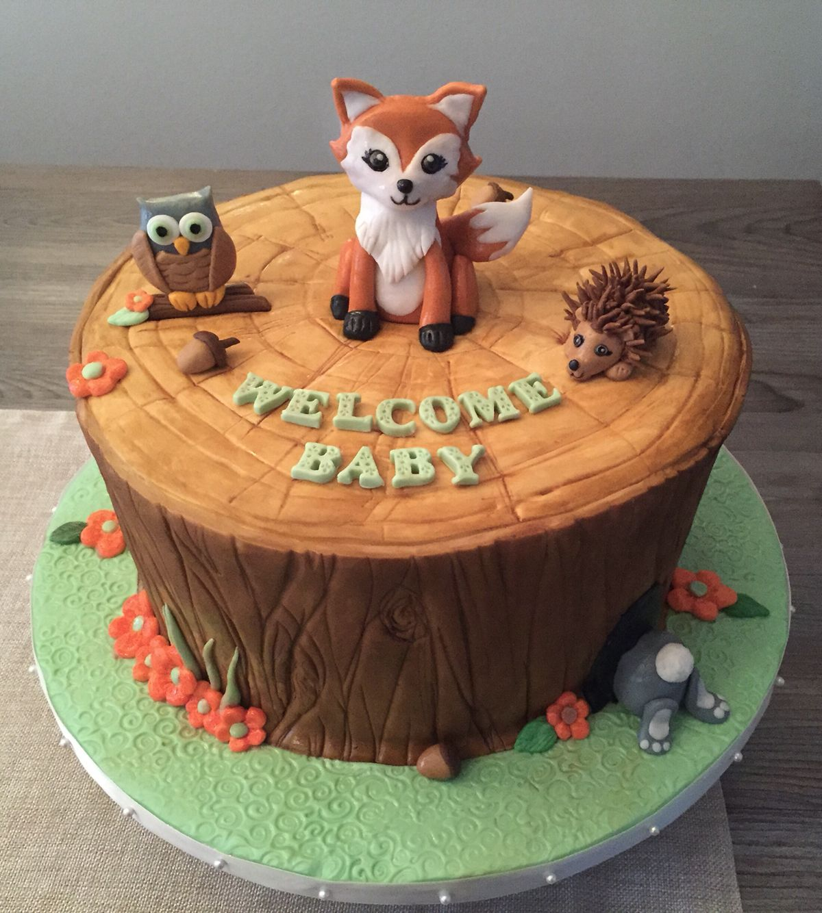 Woodland creature cake- we'd like the cake modeled after ...