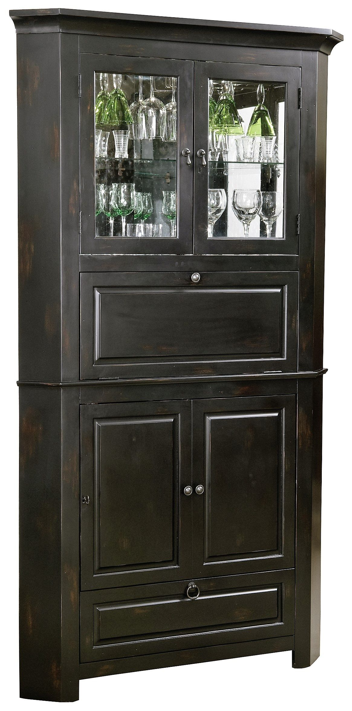 Rustic Corner Bar Cabinet Distressed Wine Amp Bar Cabinet