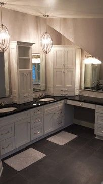 L Shaped Vanity Design Ideas Pictures Remodel And Decor