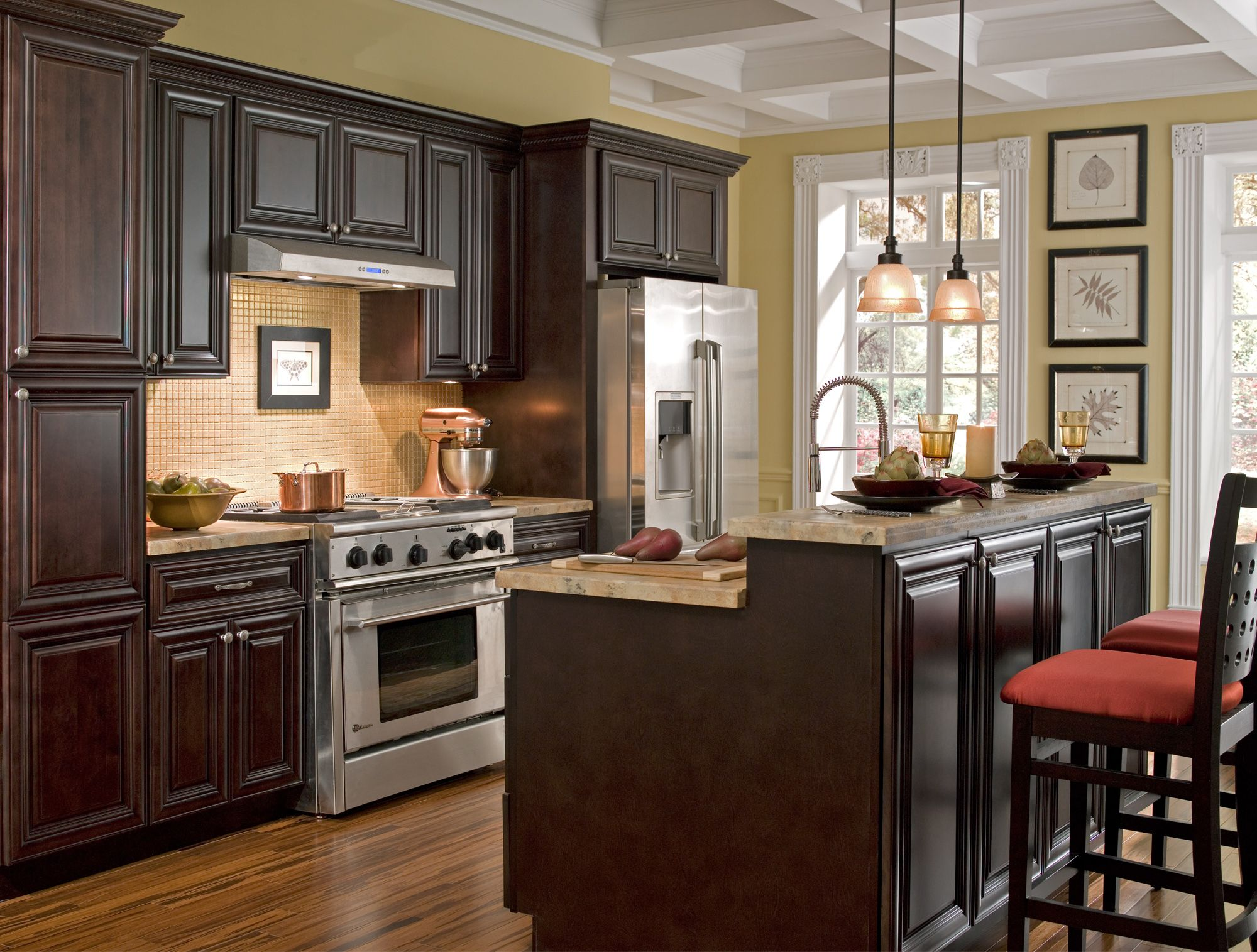 Best Kitchen Gallery: Findley Myers Palm Beach Dark Chocolate Kitchen Features Solid of Chocolate Kitchen Cabinets on cal-ite.com