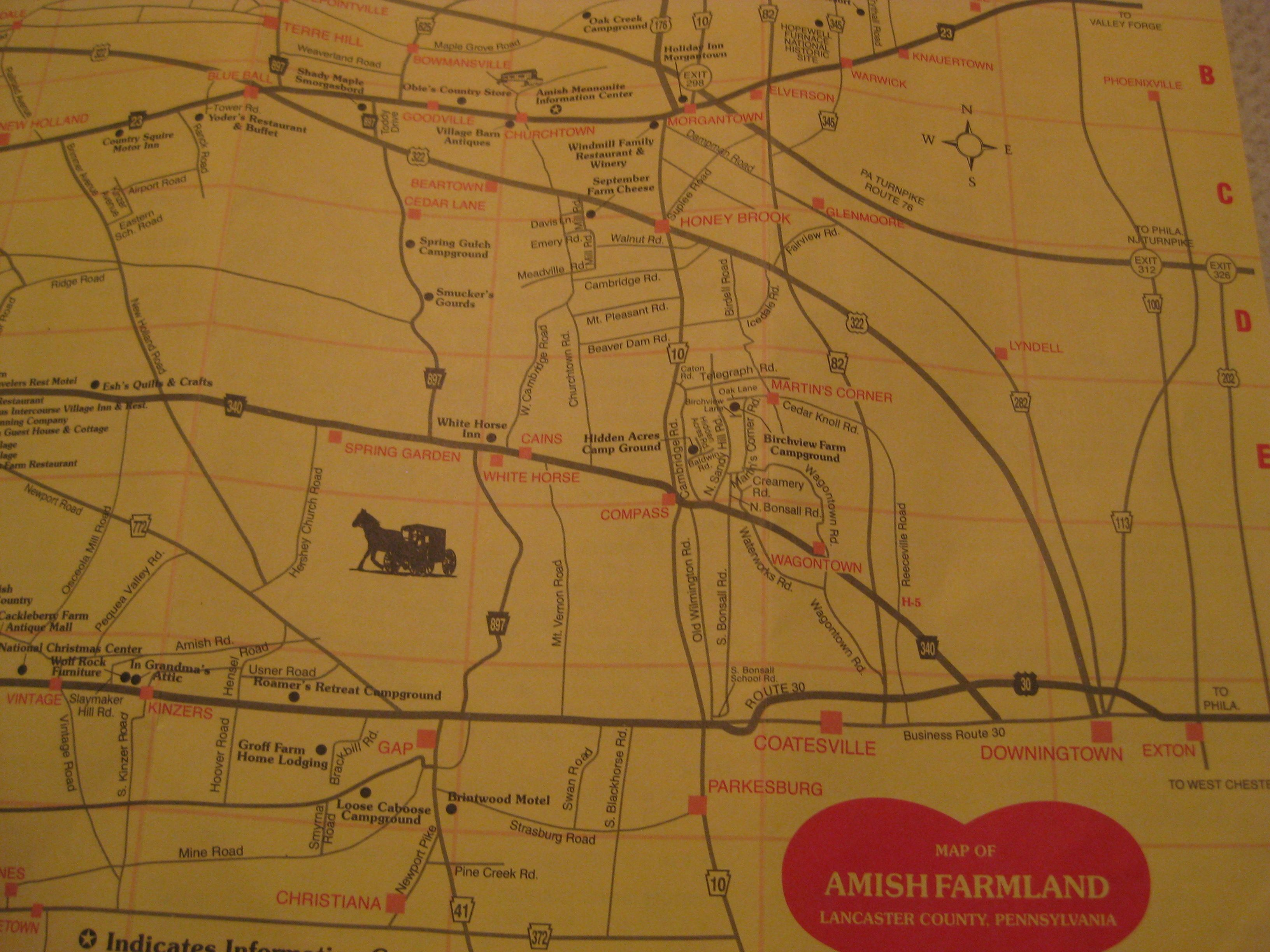 Farmlands map of Lancaster county  PA   Gettysburg  Lancaster     Farmlands map of Lancaster county  PA
