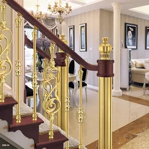 Brass Stair Handrails Brass Stair Handrails Suppliers And | Brass Handrails For Stairs | Aluminum | Classic | Medallion | Cantilevered Spiral Stair | Wrought Iron Railing