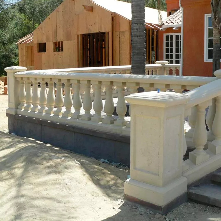 30 Years Factory Supplied Custom Front Stone Porch Stair Railings | Front Porch Stair Railing | Single Step | Outdoor | Rail | Pressure Treated | White