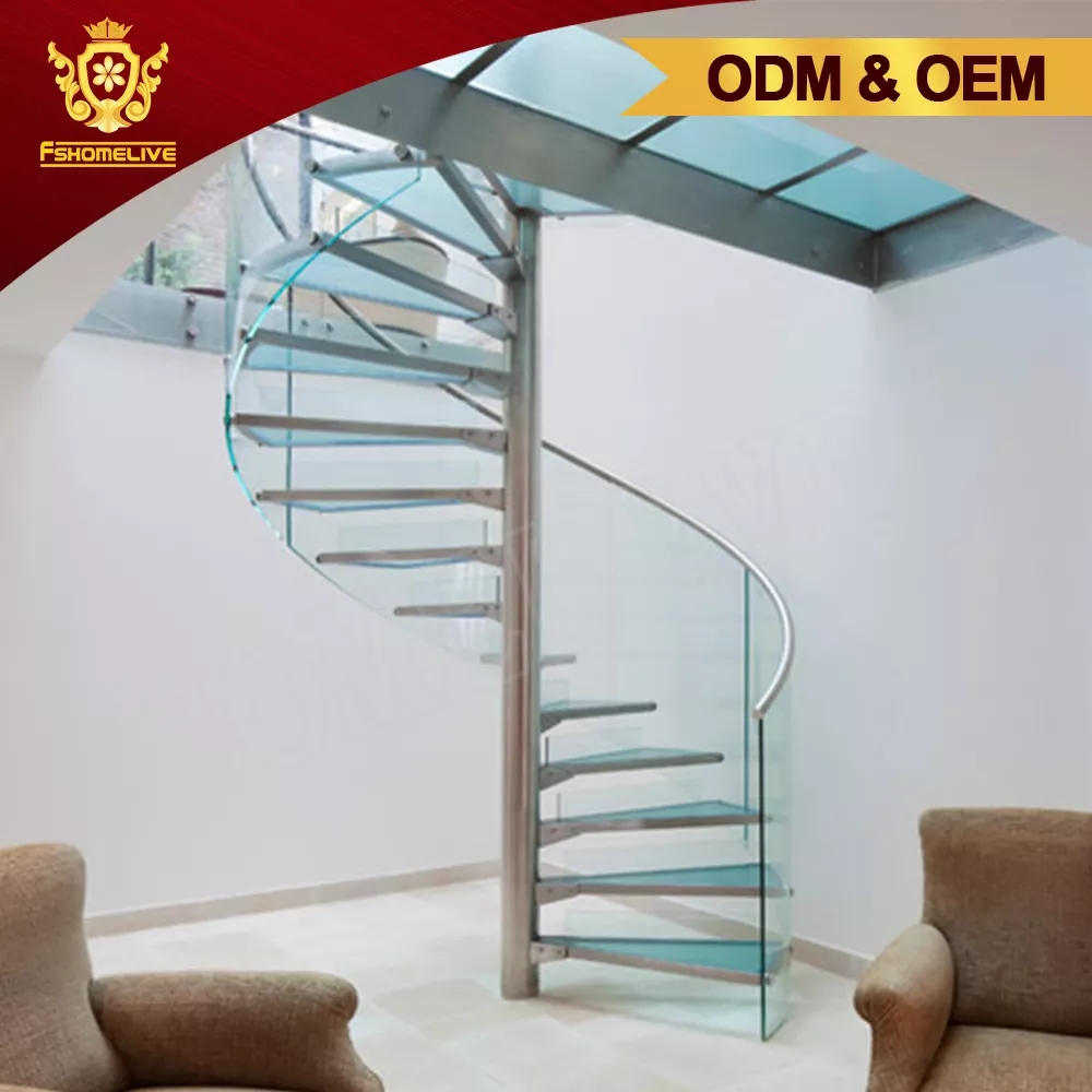 Custom Made Design Inside Home Used Metal Glass Round Shaped | Stairs Design Inside Home | Interior Staircase Simple | Wooden | Outside | Short | Behind Duplex