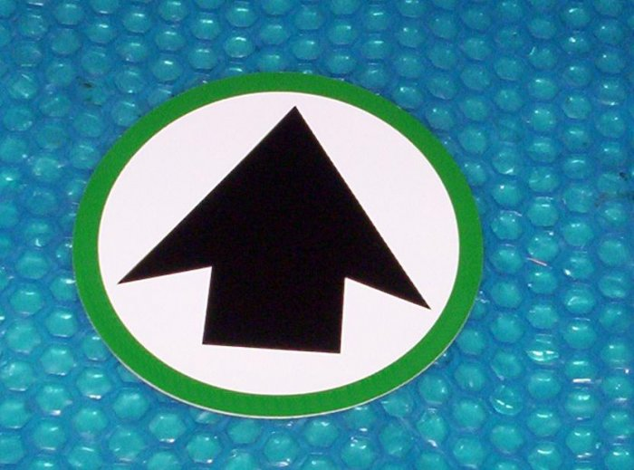 Automatic Door Quot Arrow Quot Label 814