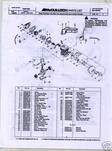 Lube Chain Mac Chainsaw List 3200 Parts