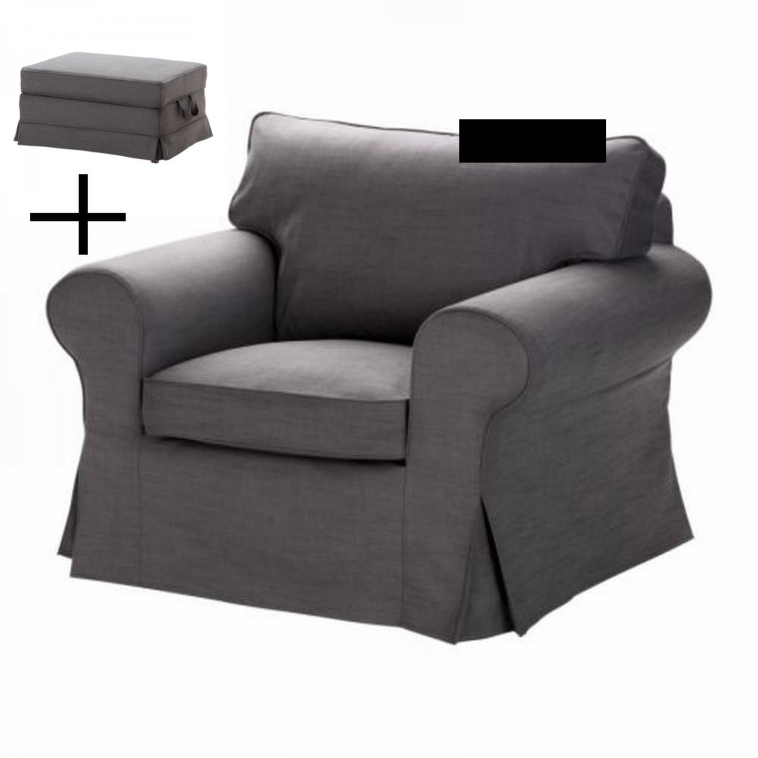 Grey Armchair And Ottoman