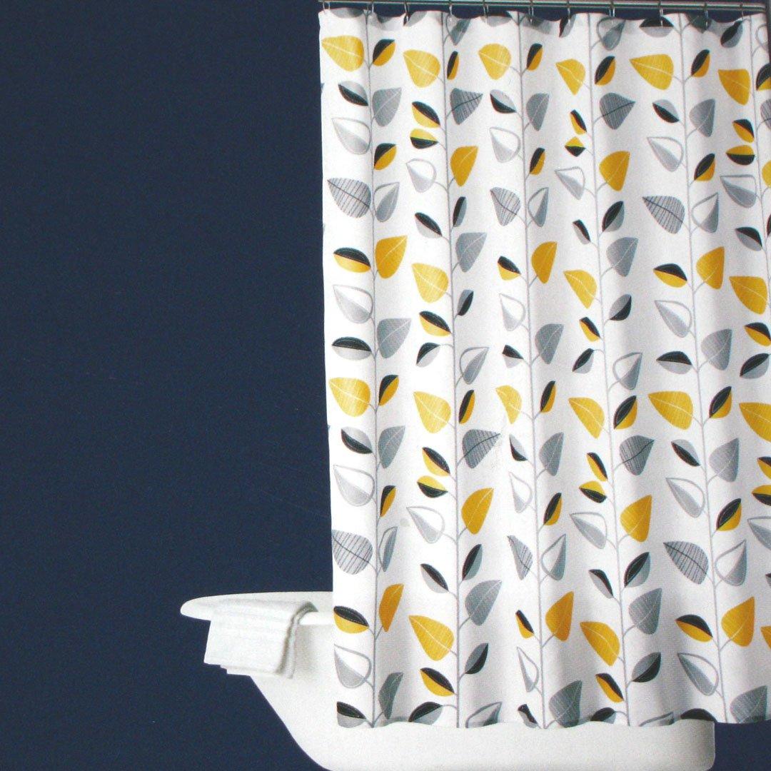 Blue Yellow Grey Shower Curtain