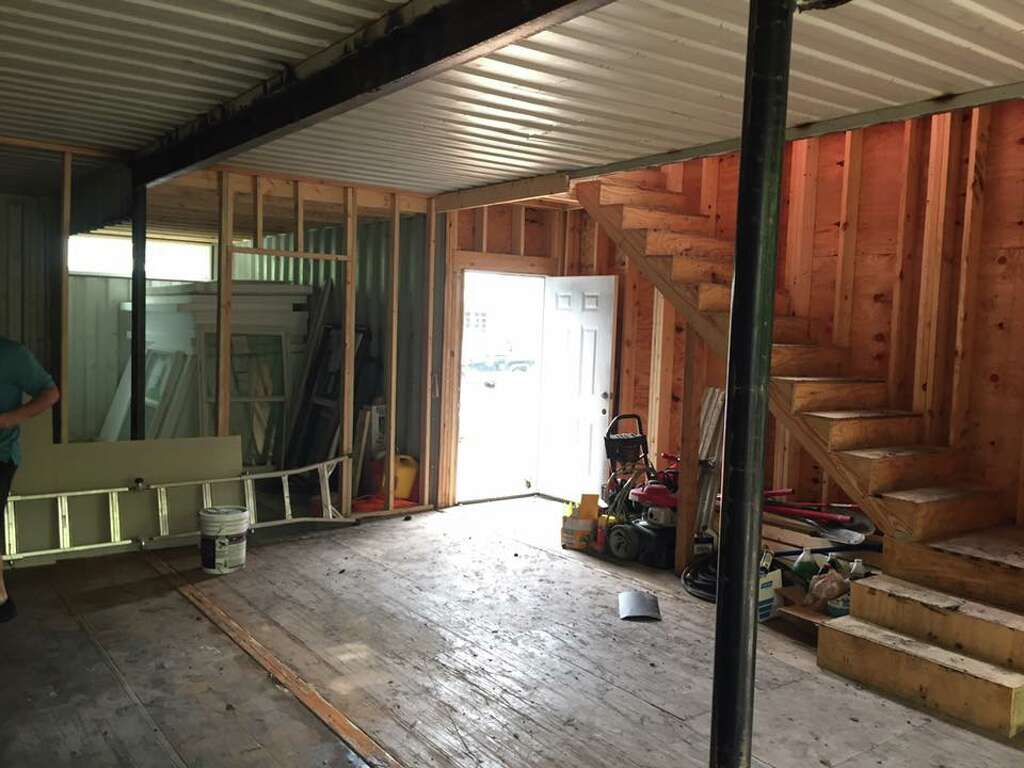 Best Kitchen Gallery: One Of First San Antonio Container Homes Nearing Pletion In of Building A Container Home  on rachelxblog.com