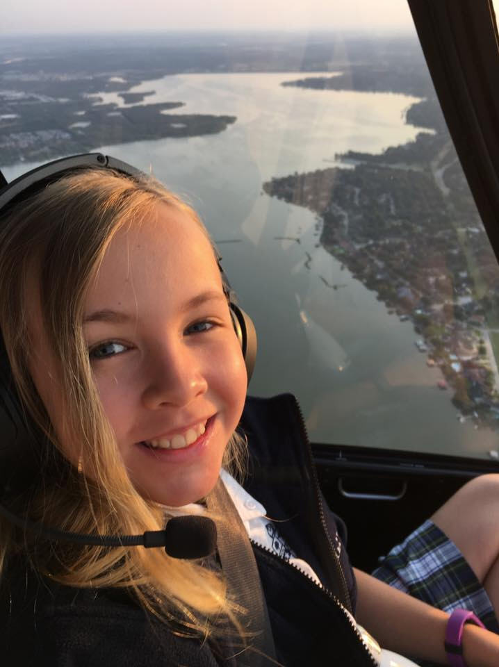 Texas Girl Beats Traffic By Taking A Helicopter To School