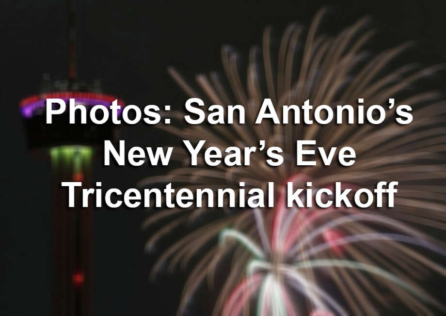 A shivering start to the New Year   San Antonio Express News A view of the Tower of the Americas and fireworks during San Antonio s   Celebrate 300
