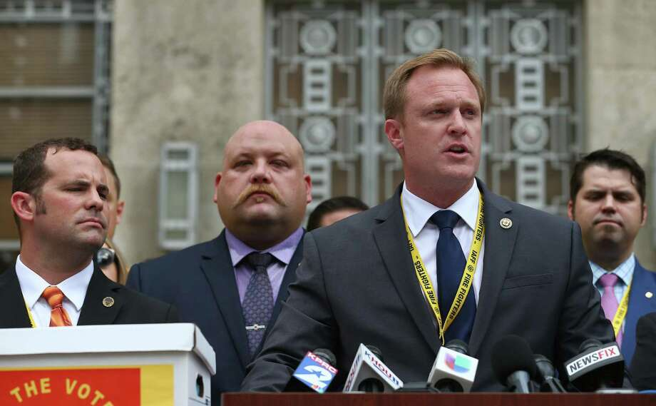 Houston firefighters sue mayor, council member over pay ...