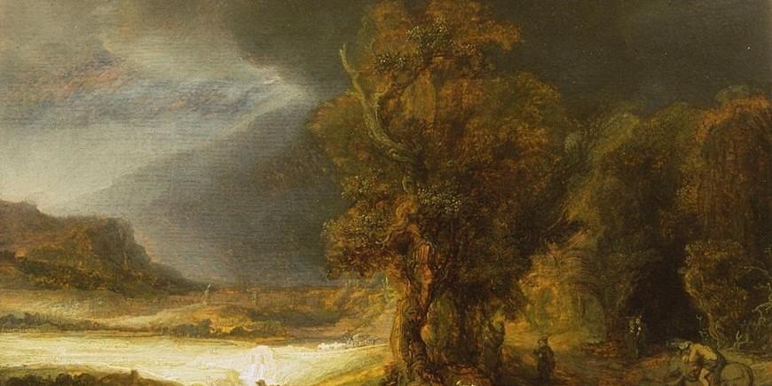 Rembrandt Landscape With The Good Samaritan Krakow