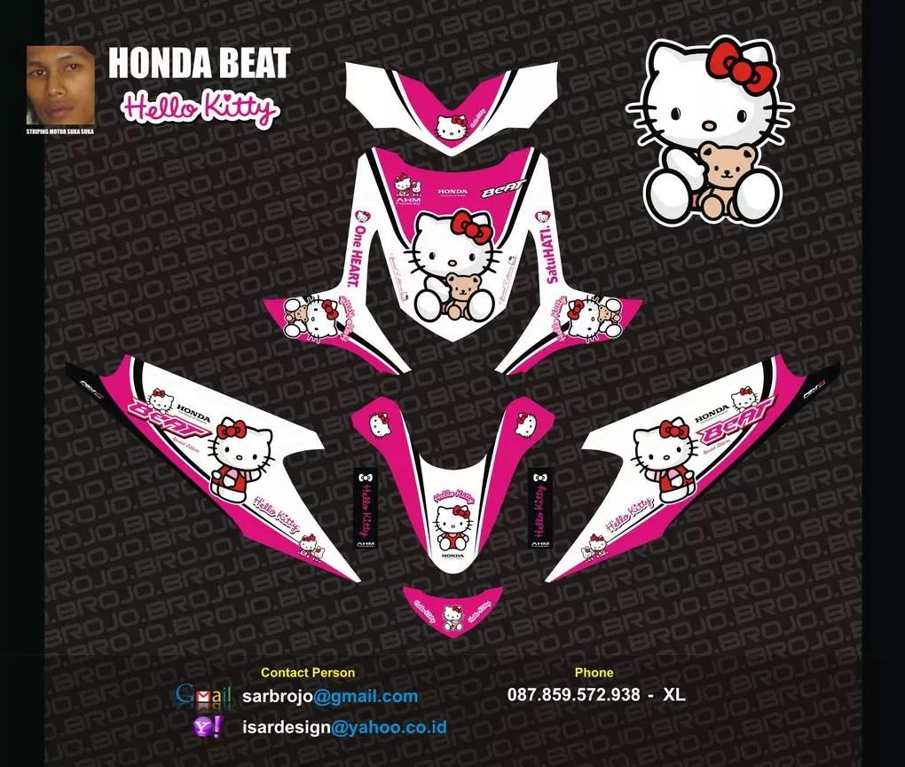 Download Koleksi Modifikasi Motor Vario Hello Kitty