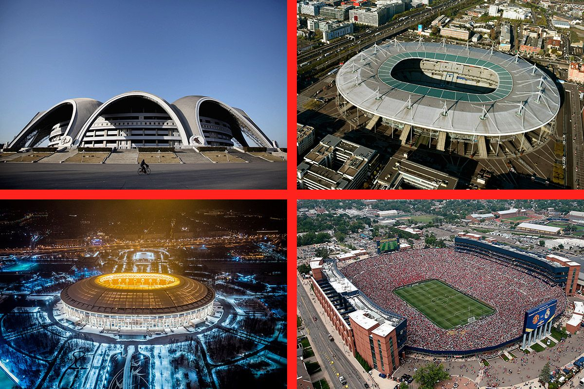 In Pictures 50 Of The Biggest Stadiums In The World