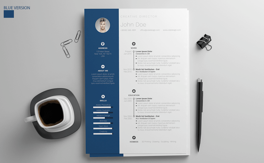 65 Eye Catching CV Templates For MS Word   Free To Download CV template for Word