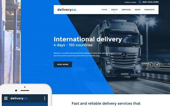 Grabs Full Pixels » Delivery Services Web Template Delivery Services Website Template New Screenshots BIG