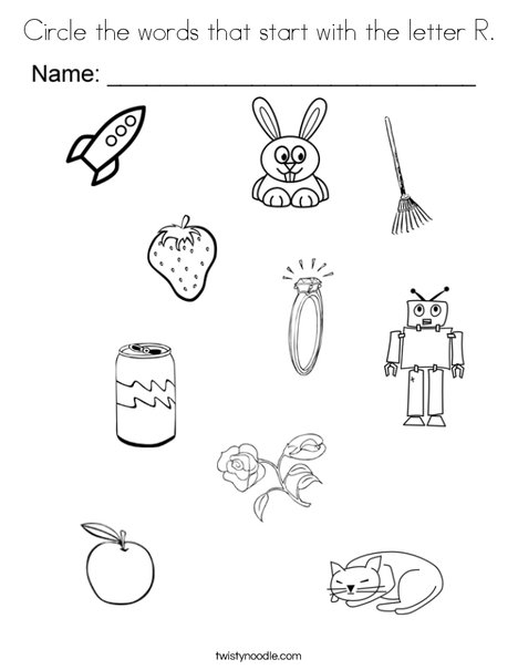 letter r coloring page # 23